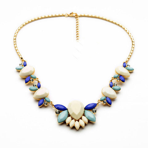 Flower Collares Gold Choker Statement Necklaces & Pendants Jewelry