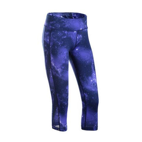 Beboy Quick Dry Mid Waist Sport Tights Women Printed Training Gym Leggings Breathable Slim Running Jogging Cropped Trousers