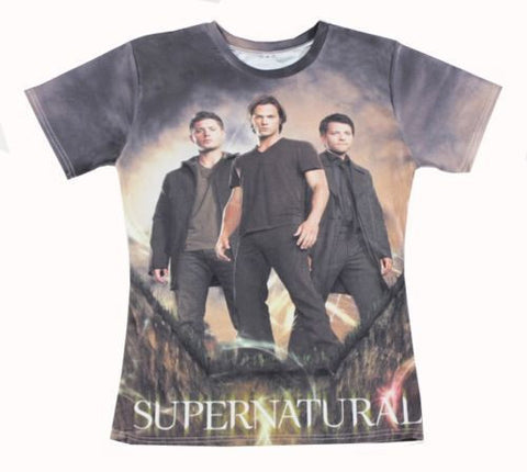 Men's Short Sleeve T-shirt Unique Fashion Men/Women Supernatural 3D All Over Printed Tops t shirt character tee shirts chemise