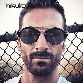 Men Luxury Brand Shades UV400 Retro Gradient Mirror Sun Glasses for Women Lunette