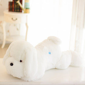 1pc 50cm luminous dog plush doll colorful LED glowing dogs children toys for girl