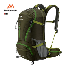 Maleroads Top Quality 40L Trekking Rucksack Camp Hike Travel Double-shoulder Backpack Black Climb Bag for Men Women Mochilas