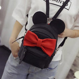 Women's bag Backpacks Cute Animals Bow Sweet ears Wind School Baby Mini Backpack