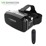 VR Shinecon Pro Virtual Reality 3D Glasses VR Google Cardboard Headset Head Mount for Smartphone 4-6' + Remote Control