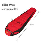 Fill 400G 800G 1200G 1500G Outdoor Camping Travel Hiking Sleeping Bag adult ultralight mummy nylon duck down sleeping bag custom