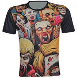Plus Size XS-6XL 2017 Summer Men's Short Sleeve T-shirt Unique Fashion Men/Women Biochemical Crisis Zombie Horror 3D Print
