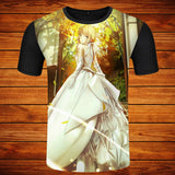 Fashion Men/Women Unique Anime Cosplay T-shirt Fate stay night Short Sleeve Casual T Shirt