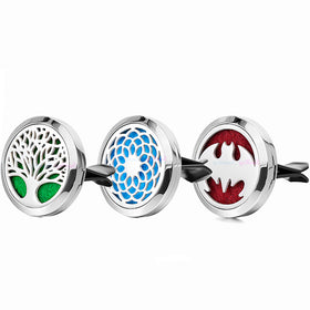 Stainless Steel Dream Catcher Tree Car Accessories Essential Oil