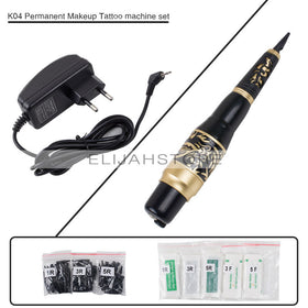 K04 Eyebrow Tattoo Machines kits Micrbalding Permanent Makeup Pen Machines Set with 50 Needles Tips EU or US Plug
