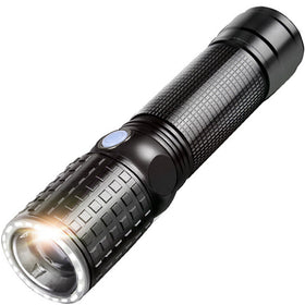 YAGE Tactical Flashlight CREE T6 10W Zoom 2000LM 18650 LED Flashlight Touch USB Hunting Flashlight Portable Lantern Self defense