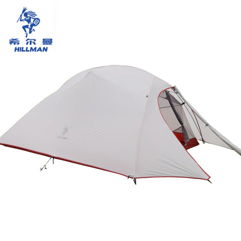 Double Layers Ultralight camping Tent 3-4 Person 20D Silicone Coated Nylon Tents 4 Season Aluminum Rod Waterproof PU8000+