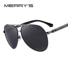 MERRY'S Design Men Classic Brand Sunglasses HD Polarized Aluminum