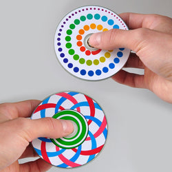 Kids Optical Illusion EDC Circular Fidget Spinner
