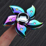 Rainbow Anodized Flower Hand Spinner