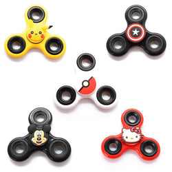 Kids Cartoon Colors Hand Fidget Tri-Spinner
