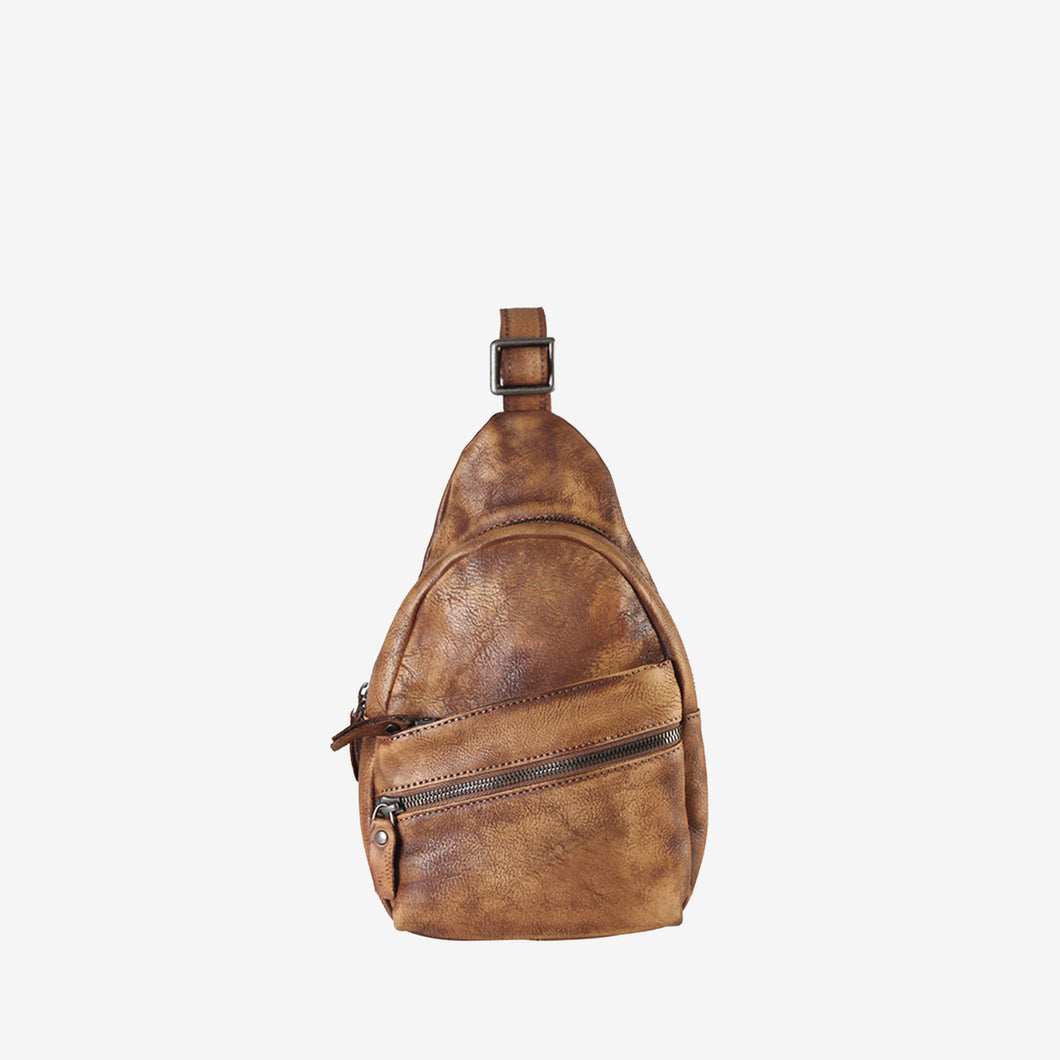 Leather Cross Body Chest Pack