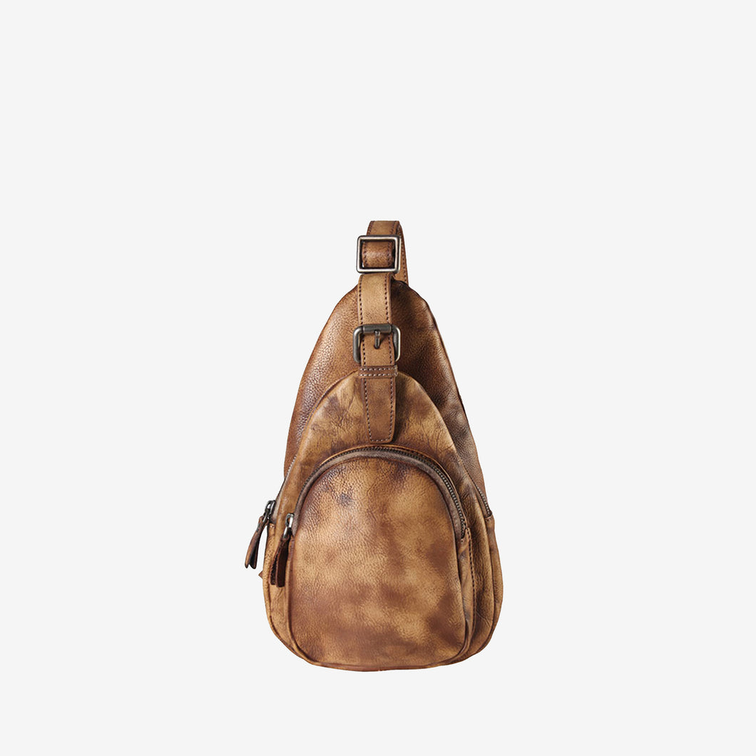 Leather Simple Cross Body Chest Pack