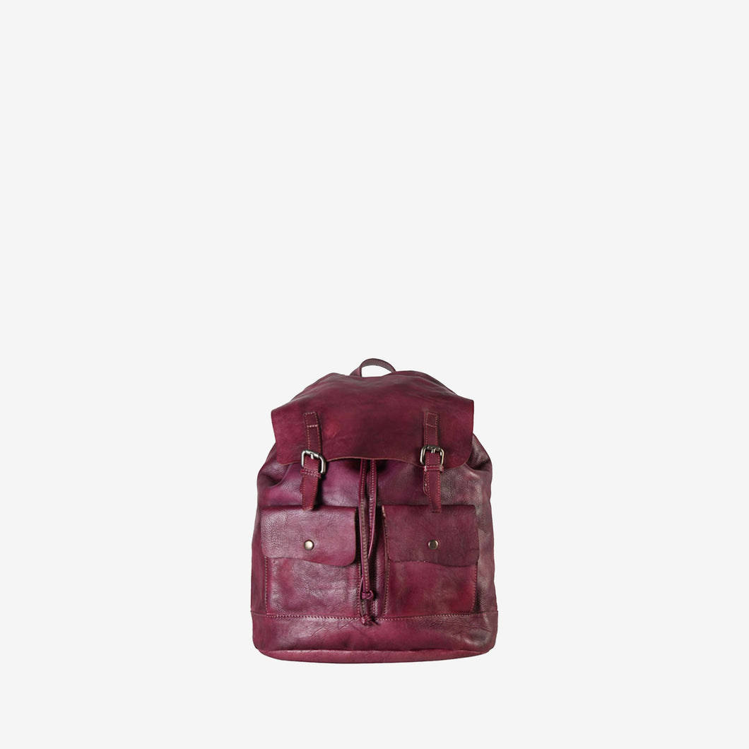 Genuine Leather Simple Design Backpack