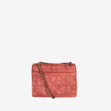 Genuine Leather Woven Crossbody Bag