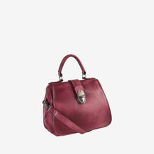 Genuine Leather Button Closure Mini Tote
