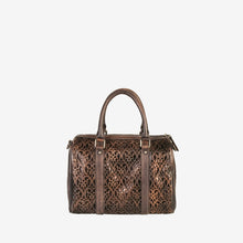 Genuine Leather Unique Design Leser Cut Tote Bag