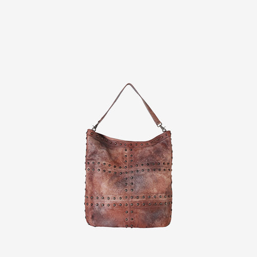 Genuine Leather Fashion Vintage-Dye Hobo