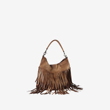 Genuine Leather Fringe Style Hobo