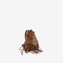 Genuine Leather Fringe Style Backpack With Zipper Pockets