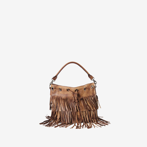 Genuine Leather Fringe Style Large Tote