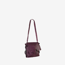 Genuine Leather Anomaly Flap Crossbody Bag