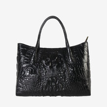 Genuine Leather Crocodile Texture Tote Handbag