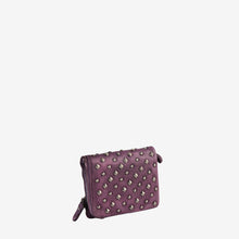 Fashionable Studs Leather Small Wallet