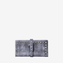 Leather Stylish Studded Card Holder Wallet