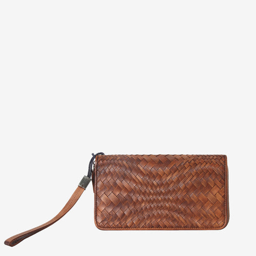 Fashionable Woven Leather Wallet