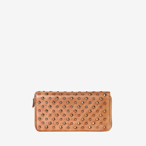 Leather Studded Multiple Card Holder Wallet