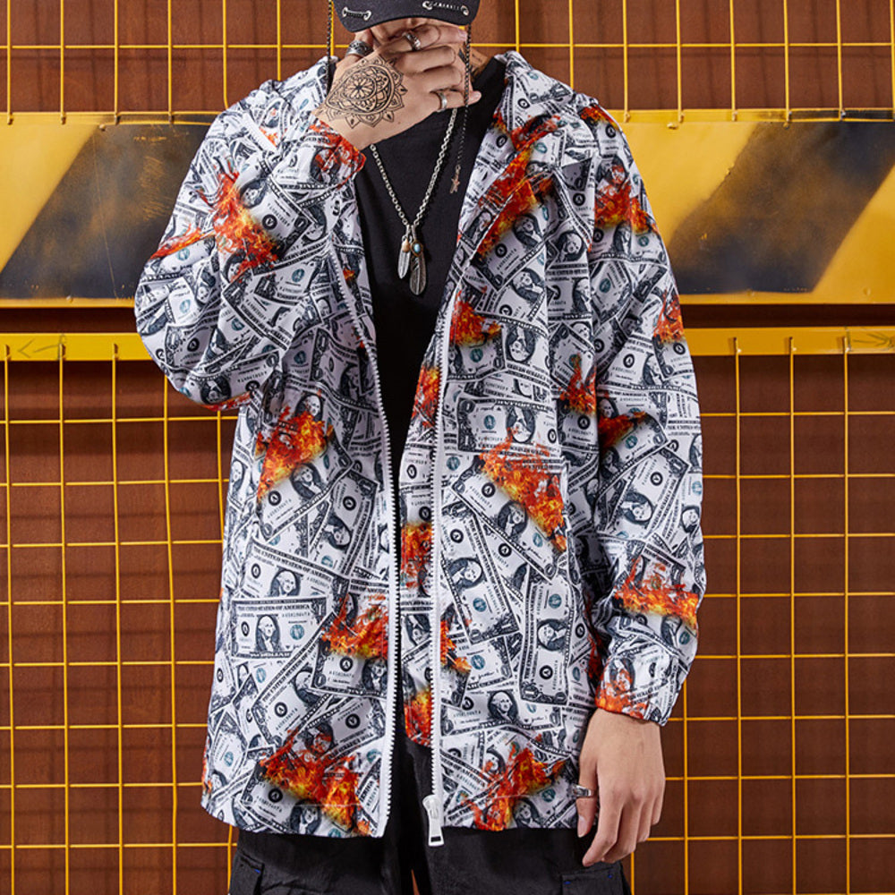 Dollar Bill Print Jacket by Mighty Mighty