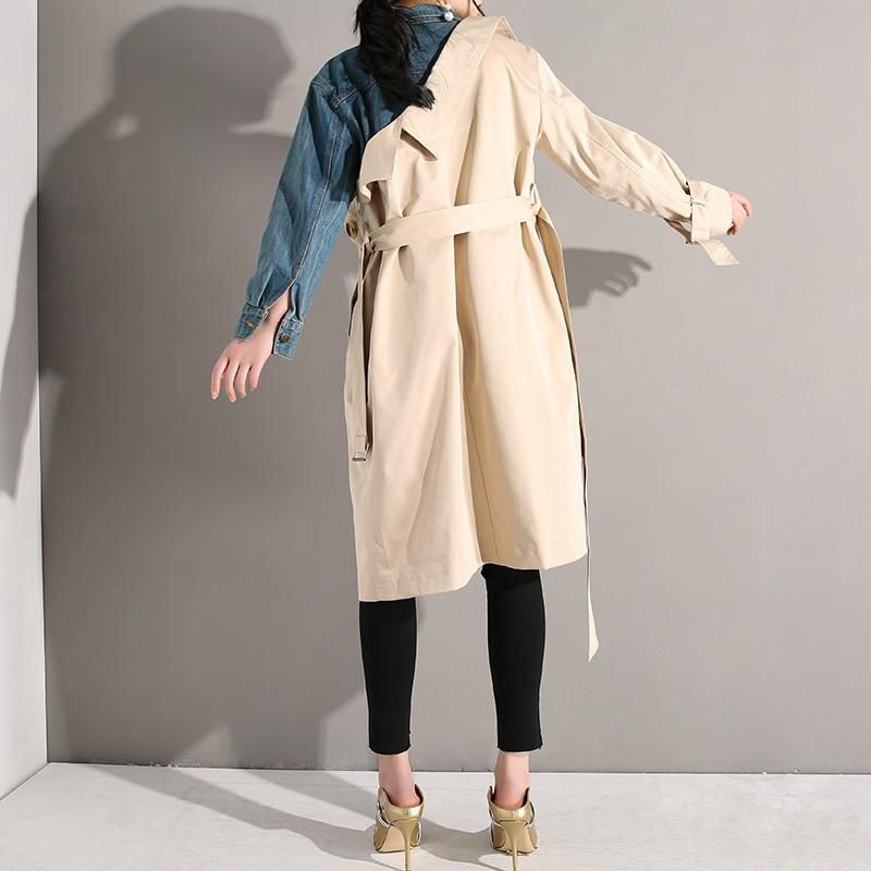Half Denim Trench Coat by Mighty Mighty