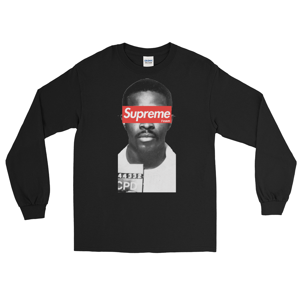 Black The Supreme Being Long Sleeve Tee by Mighty Mighty