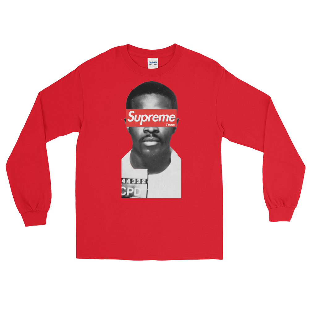 Red The Supreme Being Long Sleeve Tee by Mighty Mighty