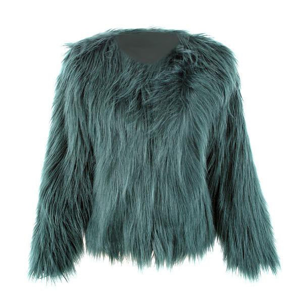 Fluffy Faux Fur Shaggy Coat