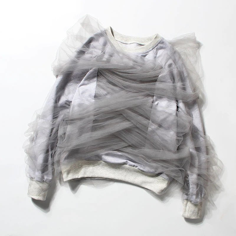 Mesh Wrapped Sweatshirt
