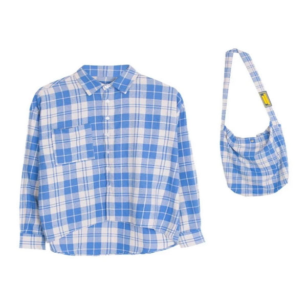 Plaid Shirt + Bag Set by Mighty Mighty