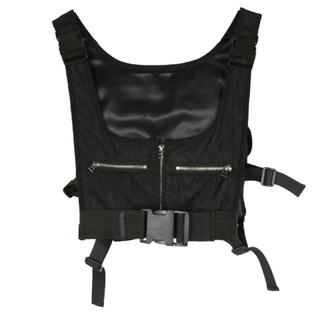 Black Tactical + Utility Crop Vest