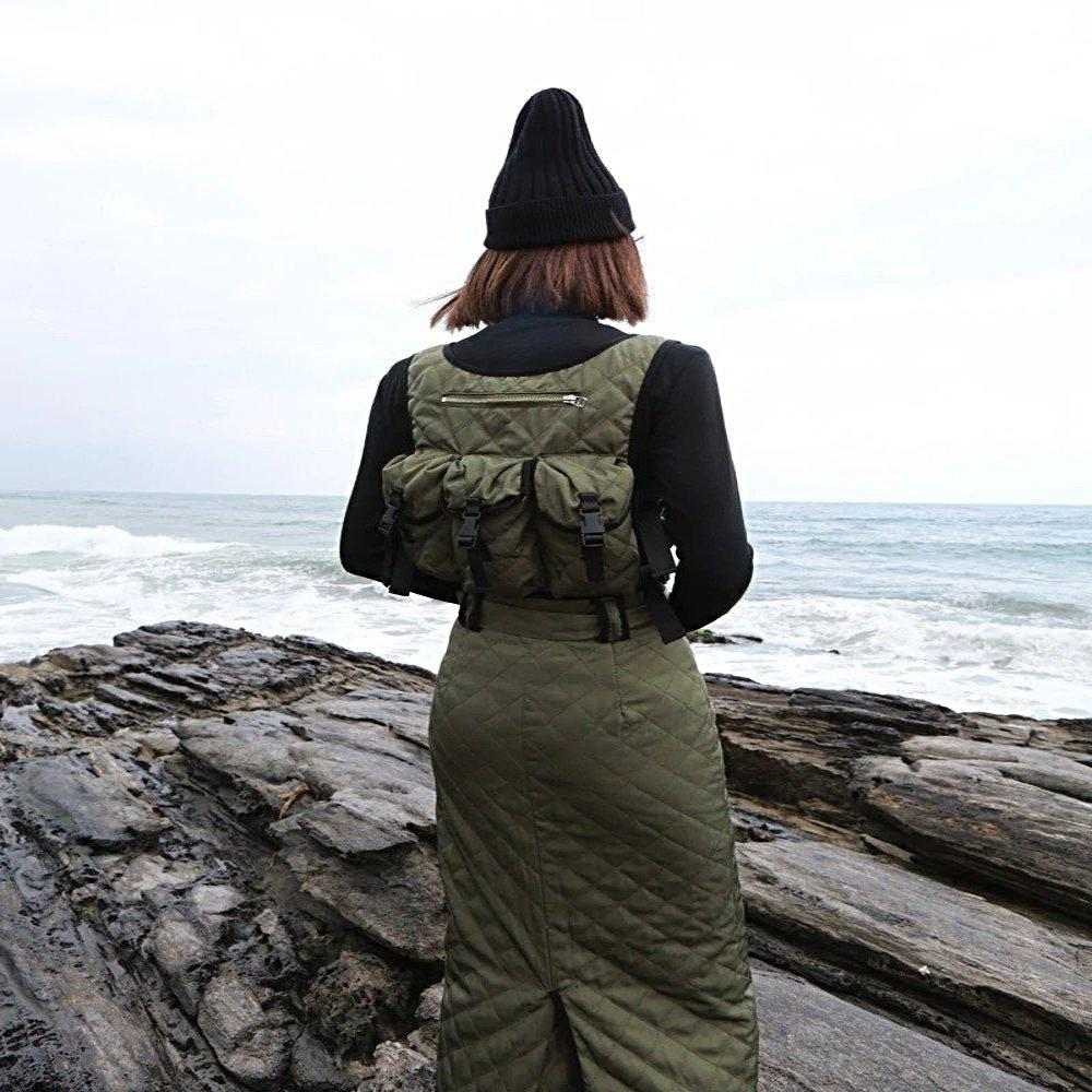 Green Tactical + Utility Crop Vest