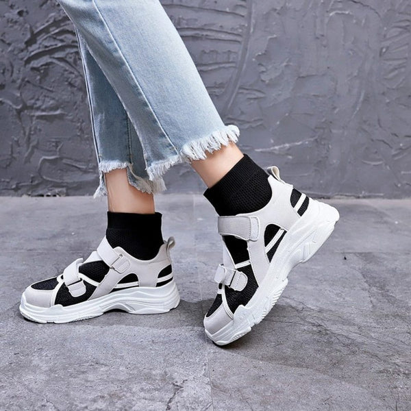 Hook & Loop Sock Sneakers