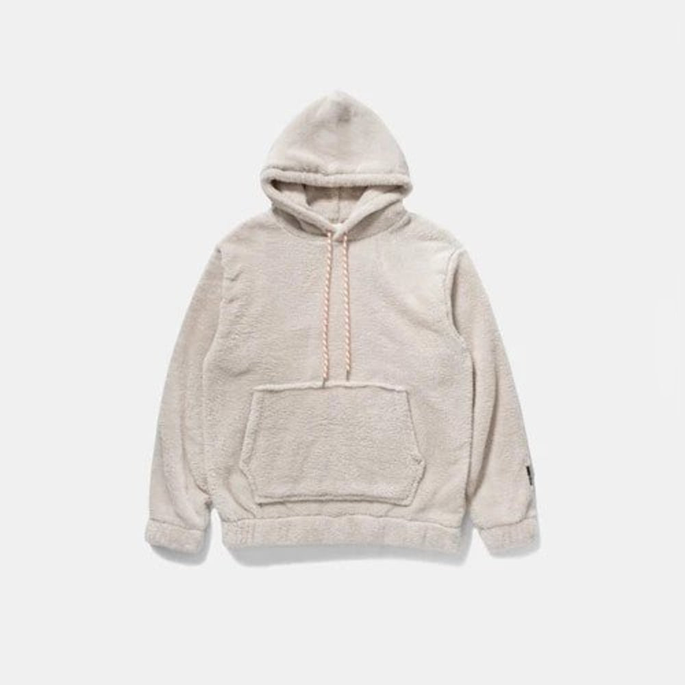 Light Grey Oversize Fleece Teddy Sweatshirt