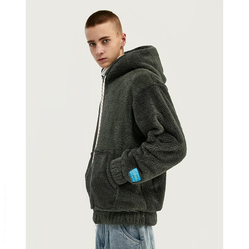 Grey Oversize Fleece Teddy Sweatshirt