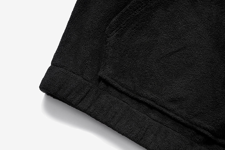 Black Oversize Fleece Teddy Sweatshirt by Mighty Mighty