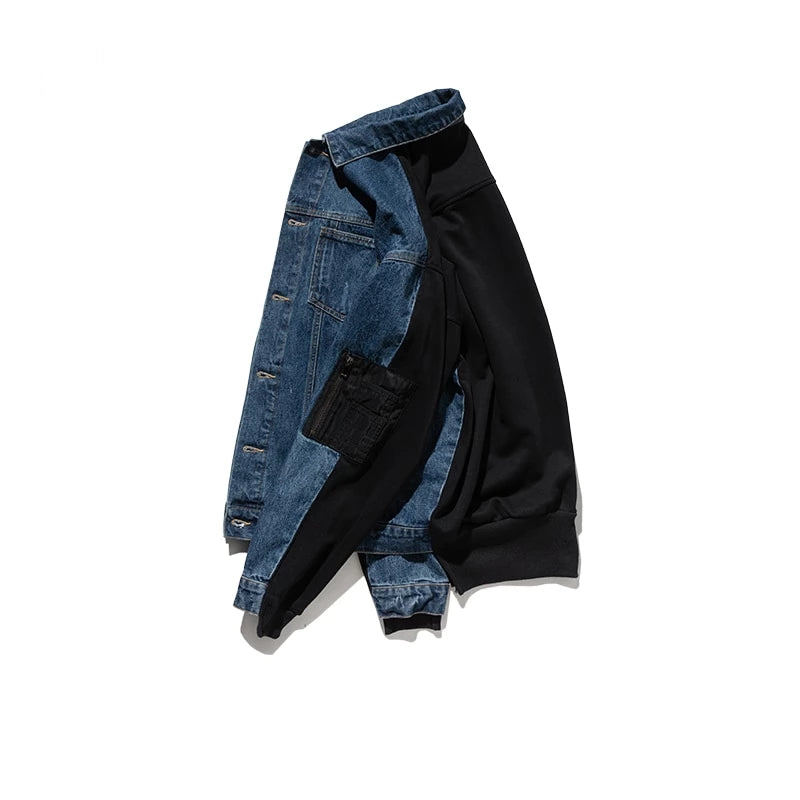 Split Denim Jacket by Mighty Mighty
