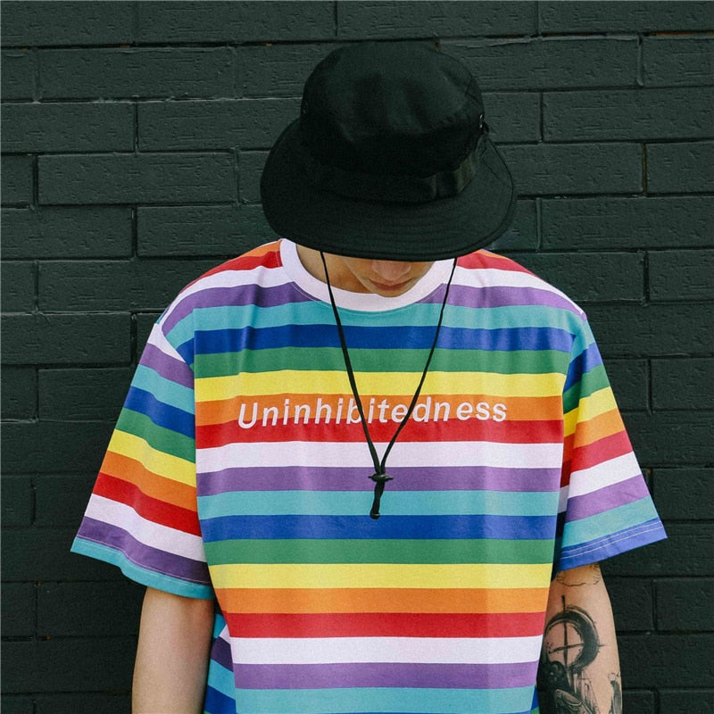 Uninhibitedness Striped Tee by Mighty Mighty